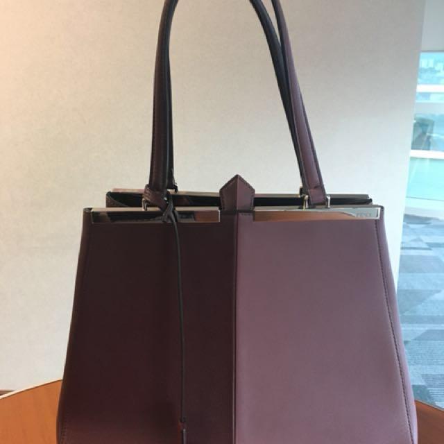 Fendi 3 Jours handbag leather (AUTHENTIC) excellent