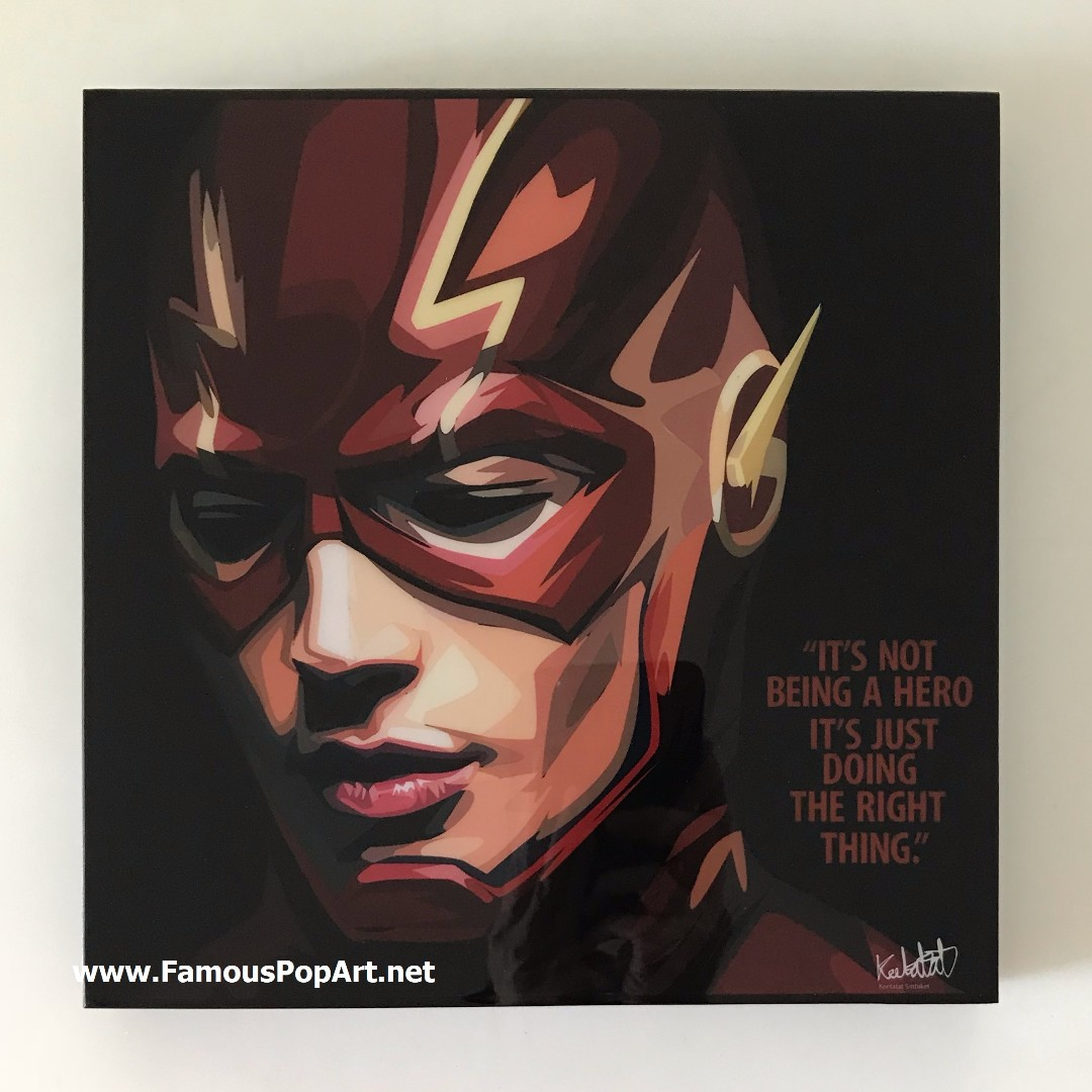 Flash (Black) PopArt! Portrait Wall Decoration Pop Art