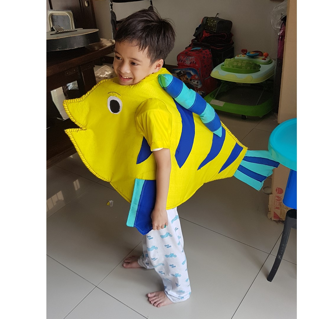 Flounder Fish Costume 3 6yrs Babies Kids Others On Carousell