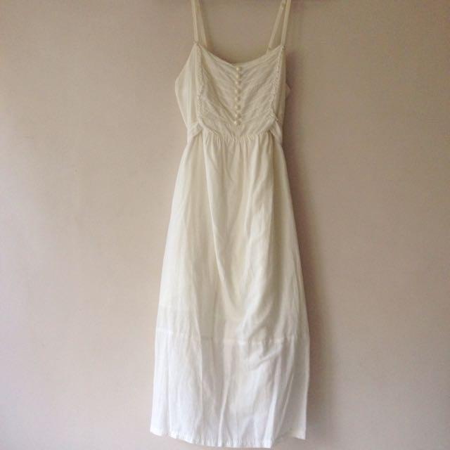 Forever 21 Off White Summer Dress