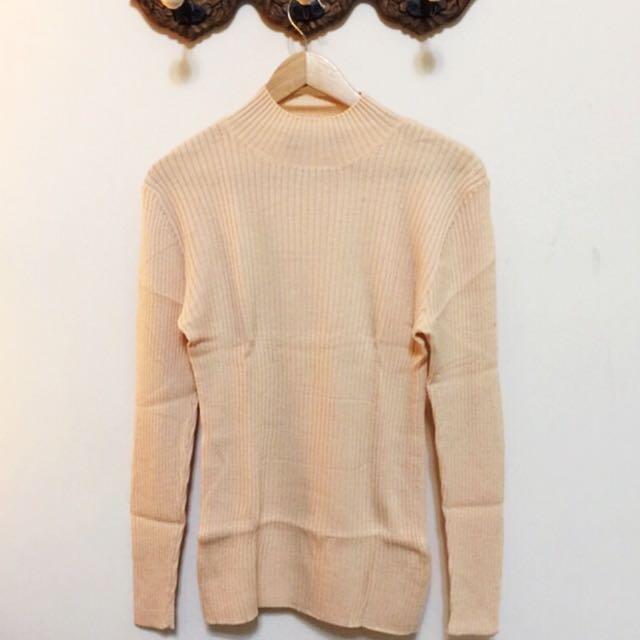 G2000💯羊毛淺橘色毛衣
