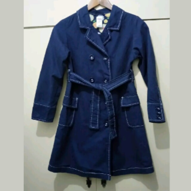 4fef405c17ba GA36 Gymboree Dark Blue Trench Coat for Girls 9T (Mint Condition ...