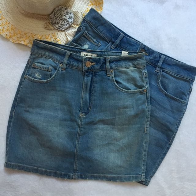 Garage High-waist Denim Skirt