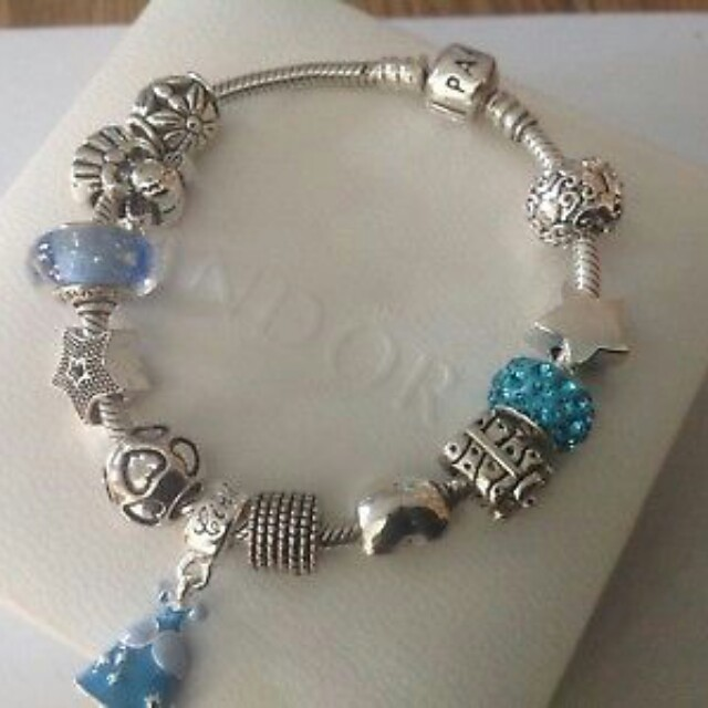 Genuine Pandora Charm Bracelet Disney Cinderella Theme Charms 19 Cms Plus Box Women S Fashion Jewelry On Carou