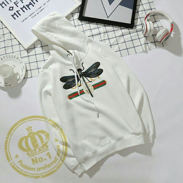 56a76093 Gucci dragon fly hoodie, Men's Fashion, Clothes, Outerwear on Carousell