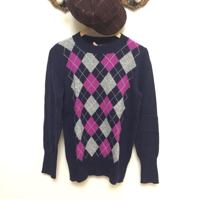 Hang Ten 方格🐑毛衣