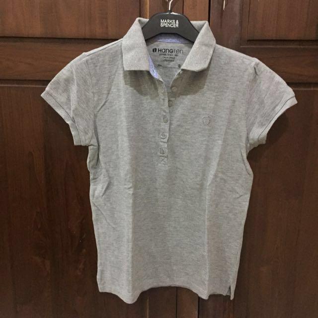 HANGTEN Gray Polo Shirt