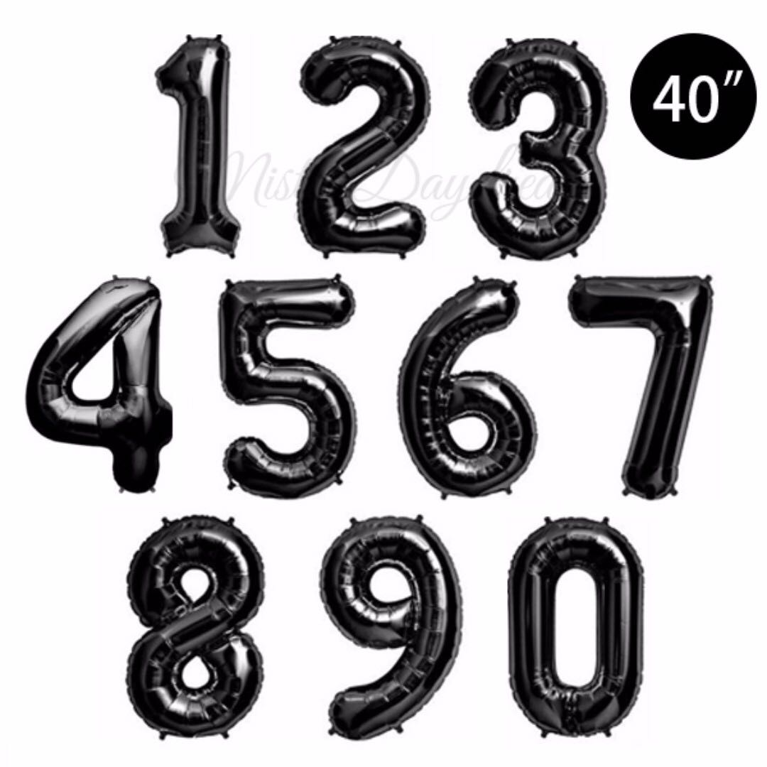 Helium Balloons 40 inch Letter/ Number Foil Balloons