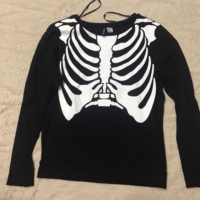 H&M Bones Sweater/Pullover