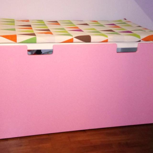 photo photo photo & IKEA stuva storage bench + bench pad on Carousell