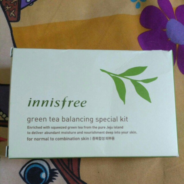 Innisfree green tea balancing travel kit