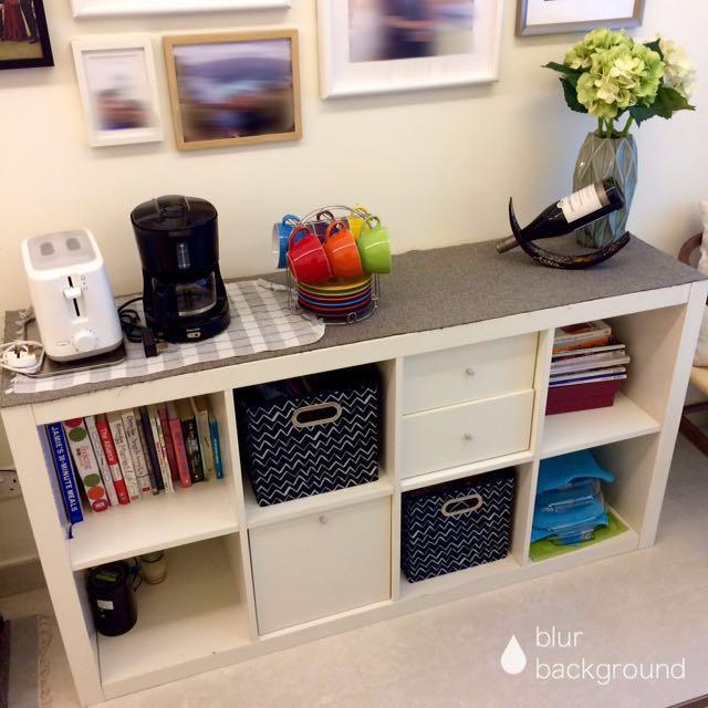 Kallax shelf+FREE storage inserts