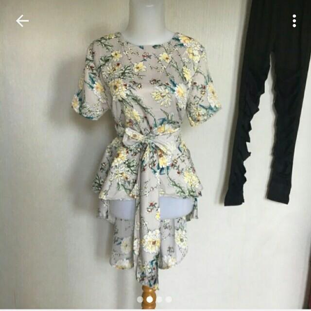 kimono flower blouse