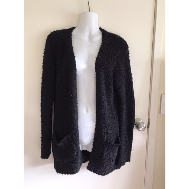 Kmart black cardigan size 8