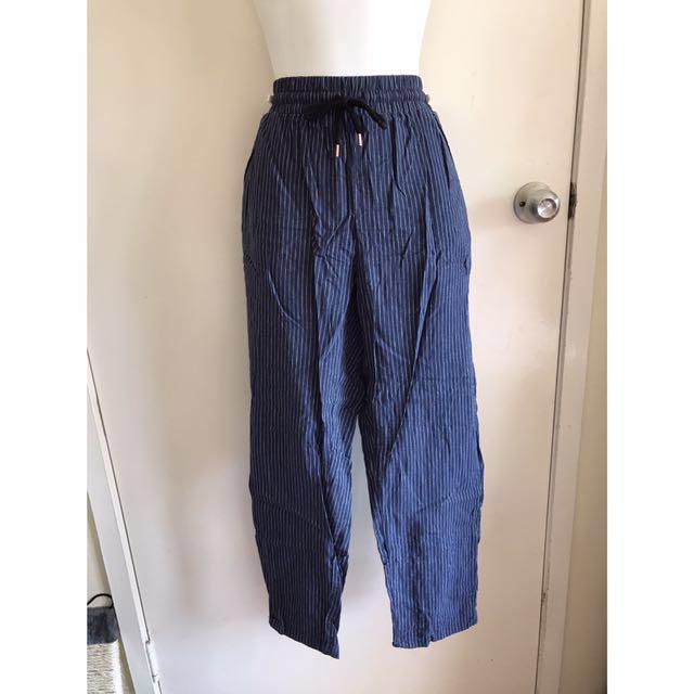 Kmart Navy stripe Jogger Pants size 10