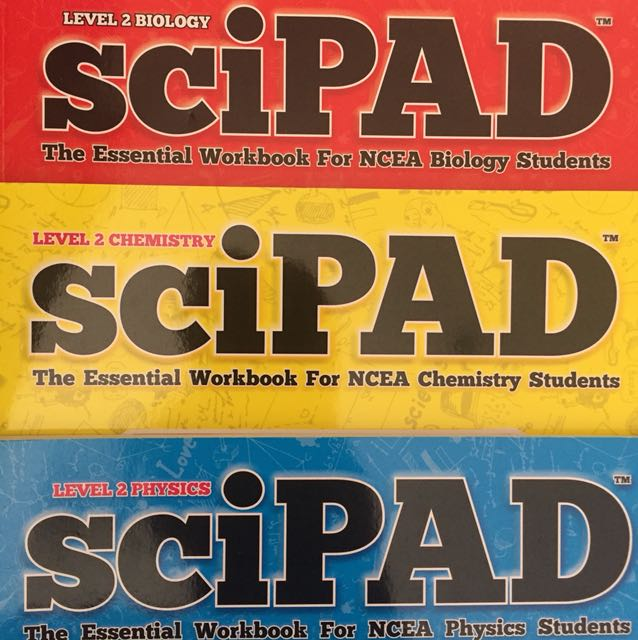 Level 2 Biology, Physics, And Chemistry Scipads internal