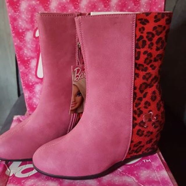 MATTEL BARBIE Leopard Gamuza Boots