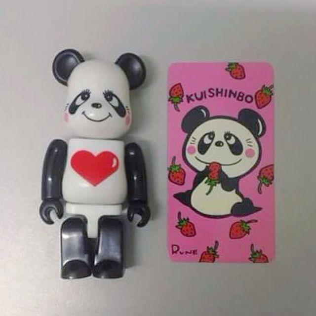 Medicom BE@RBRICK Series 23 Animal [Rune Naito's Kuishinbo Panda] 100% Bearbrick