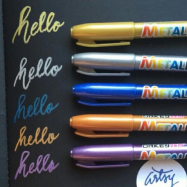 Mettalic pens set