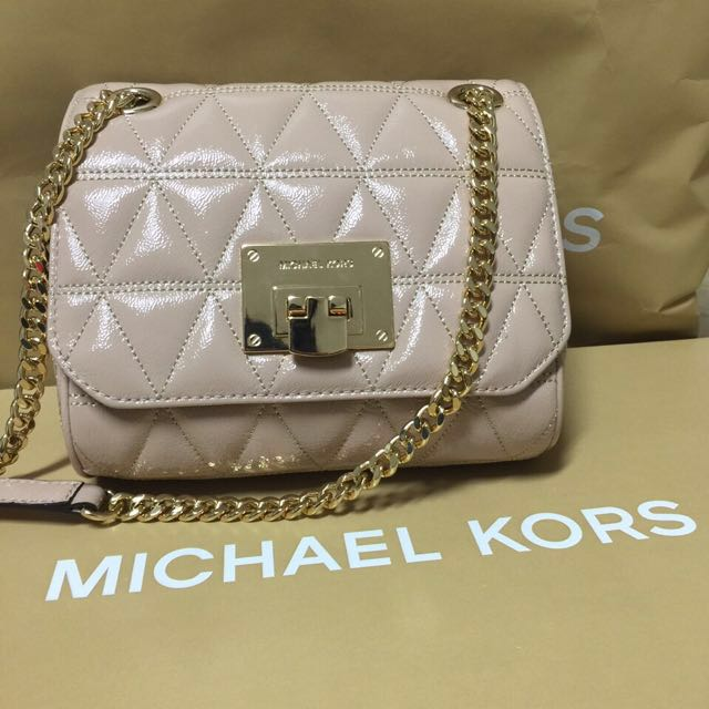 b4cb40cd5e7b Michael Kors Bags - Vivianne Oyster Leather Shoulder Flap
