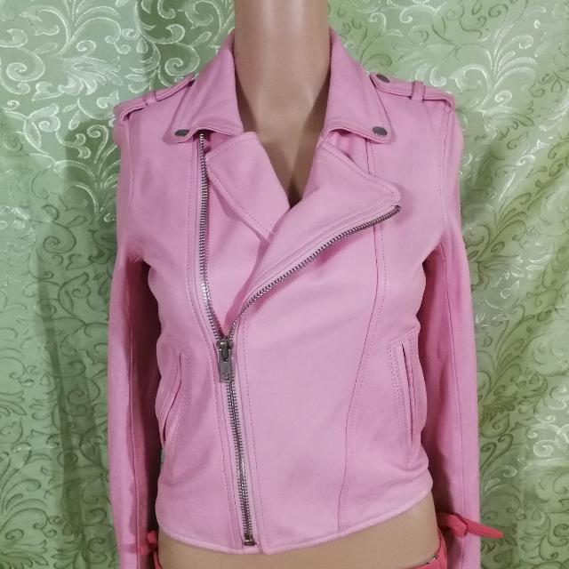 Moor Pink Leather Jacket
