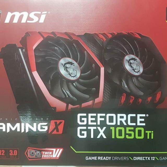 MSI GTX GeForce 1050 ti Gaming 4GB
