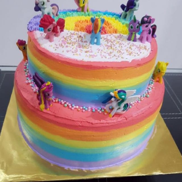 My Little Pony 2 Tier Cake Food Drinks Baked Goods On Carousell