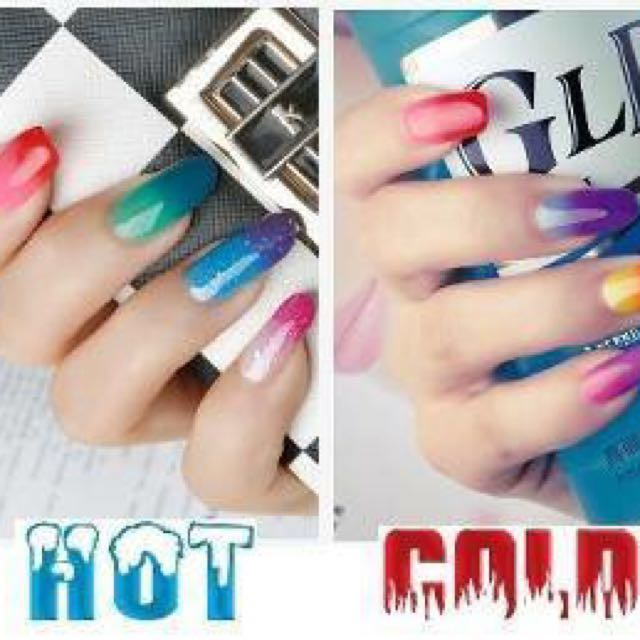 NEW - TEMPERATURE CHANGING GEL POLISH FOR NAIL ARTISTS
