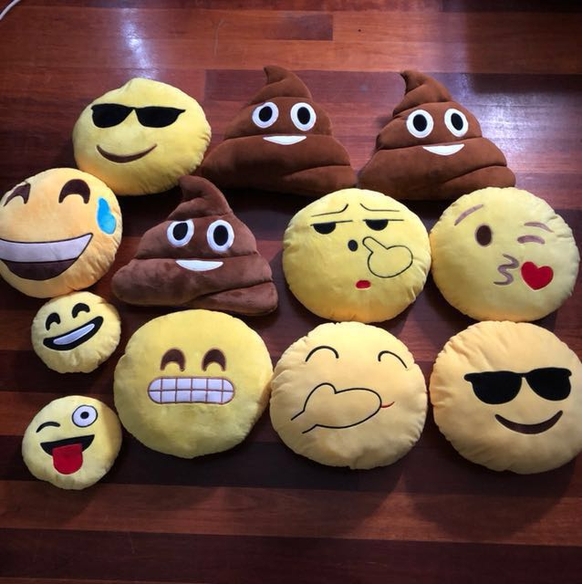 NEW Emoji Pillows $5-$10 each