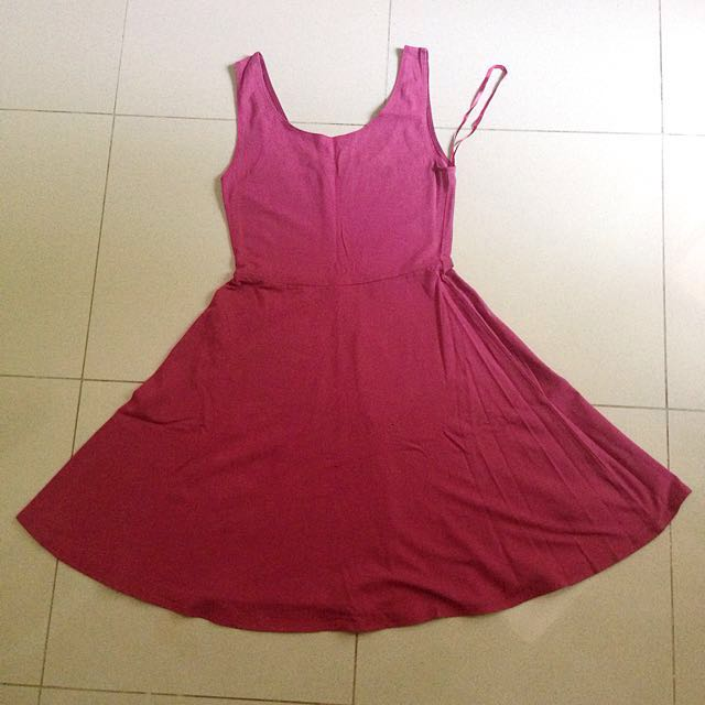 New Look Burgundy Dress