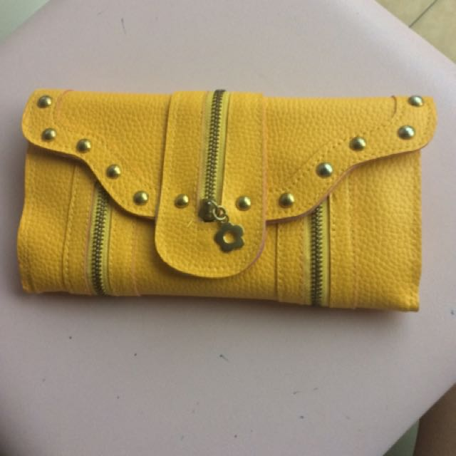 (NEW) Multifunctional Bright Yellow Wallet