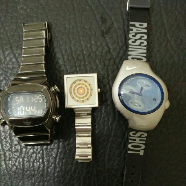 愛迪達Nike手錶三隻一起賣