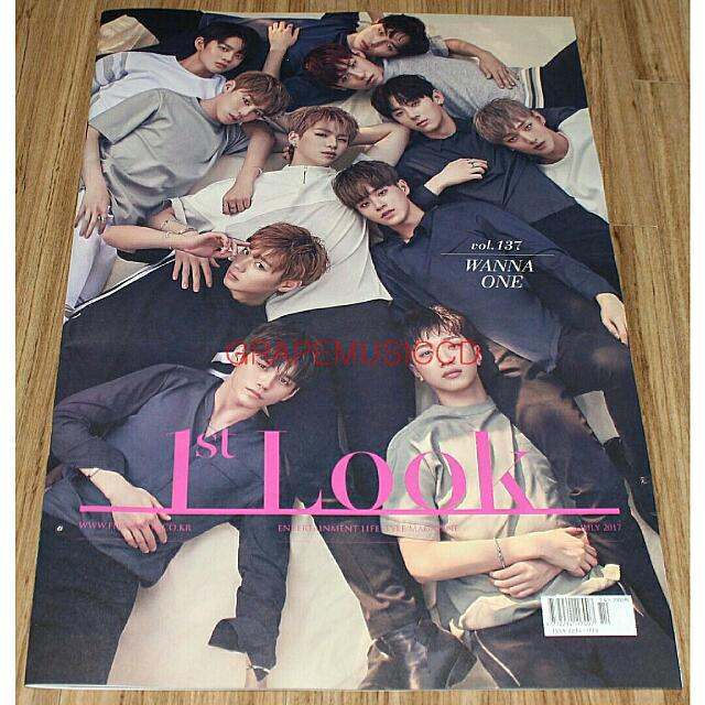 OFFICIAL WANNA ONE 1ST LOOK KOREAN MAGAZINE VOL.137(2017-07)