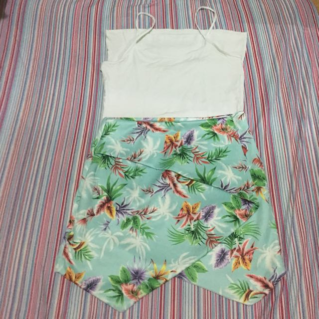 Origami floral skirt