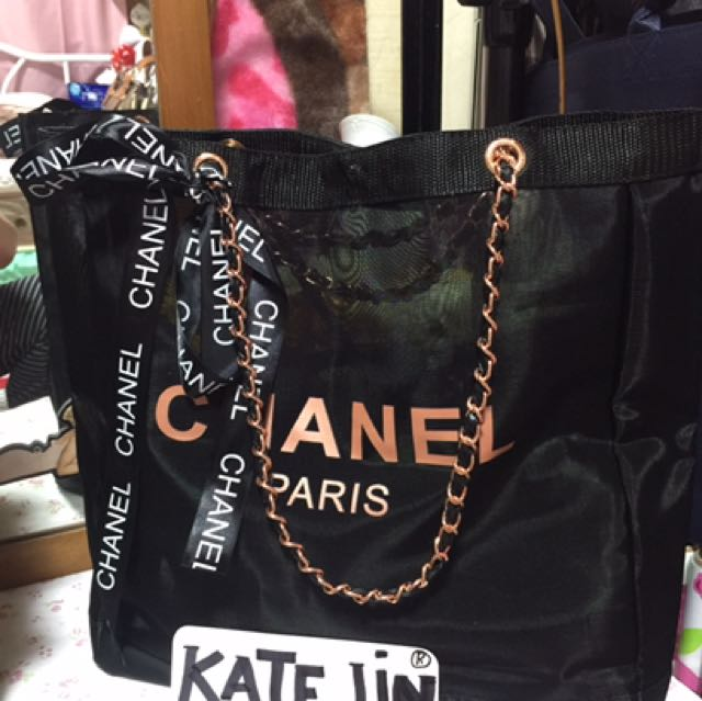 Original Chanel Gift Shoulder Bag Gold Rose