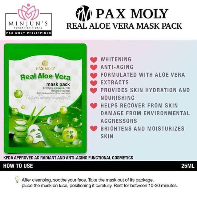 Pax Moly Real Aloe Vera Mask Pack