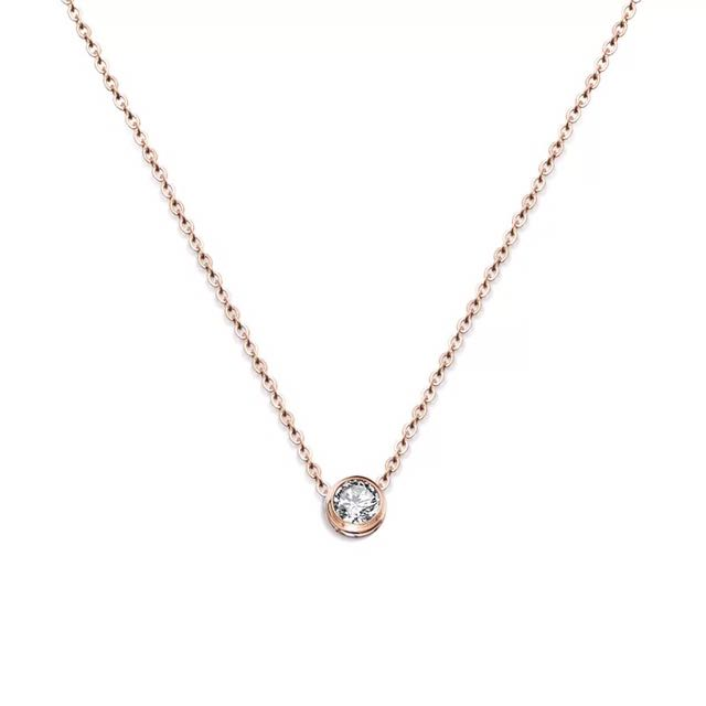 Petite rose gold necklace