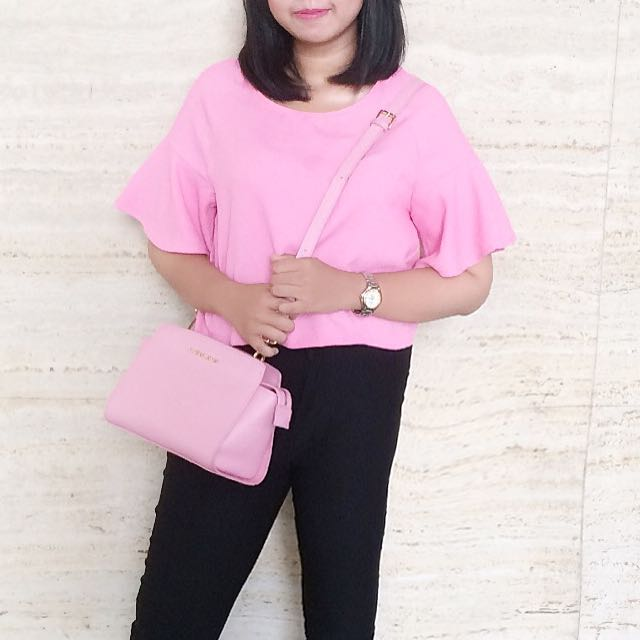 Pink Flare Top