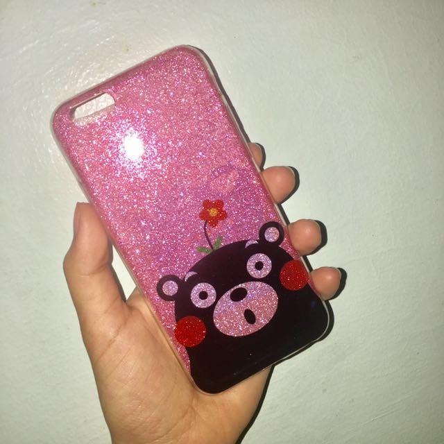 Pink glitter case