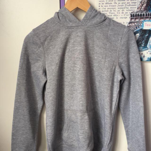 plain grey hoodie