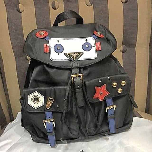 bea44e027f28 ... usa prada backpack robot limited edition preloved womens fashion bags  wallets on carousell 8d704 06502