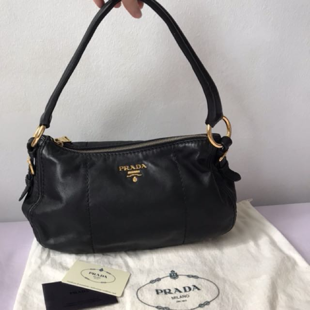 2a28841963 ... discount code for prada soft calf leather shoulder bag nero luxury bags  wallets on carousell da2c2