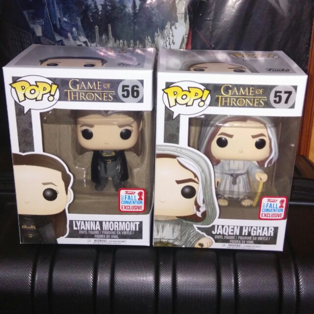 (ON HAND) Lyanna Mormont & Jaqen H'Ghar Game of Thrones Exclusives Funko Pop Bundle