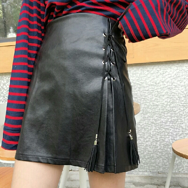 [PREORDER] PU leather Skirt