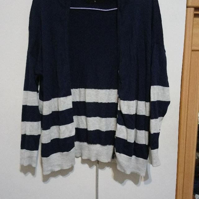 queenshop針織條紋外套
