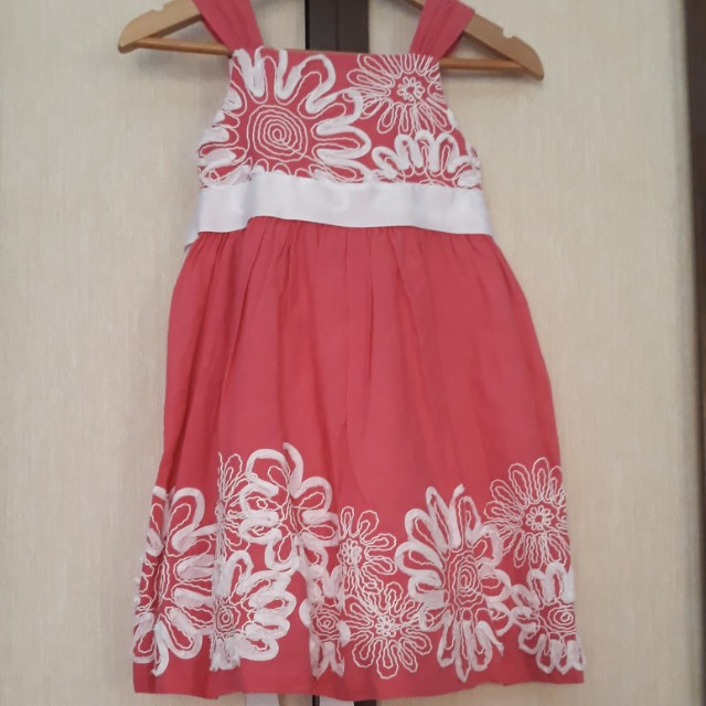 Rare Editions Pink Floral Accent Dress
