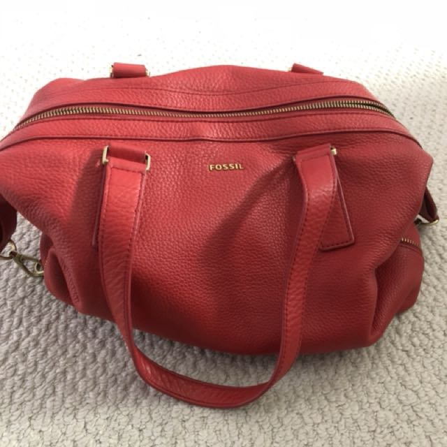Red fossil bag - lightly used