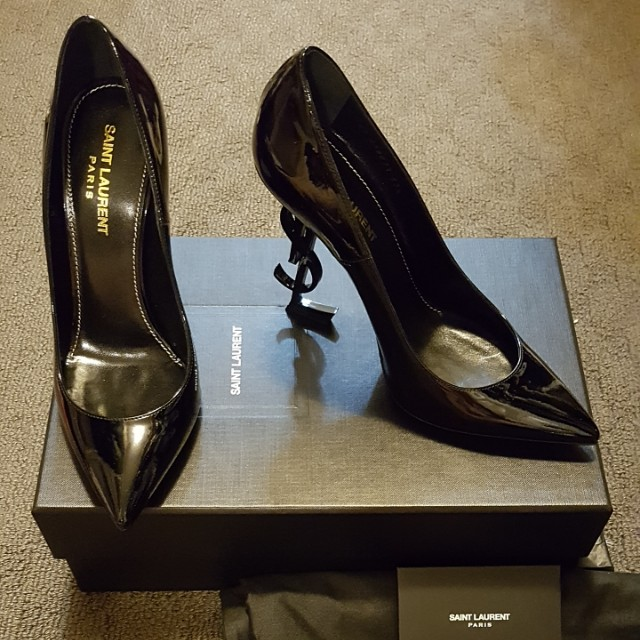 Saint Laurent Logo high heels IT37.5