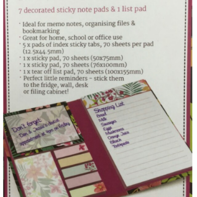Sticky notes memo folder 💕