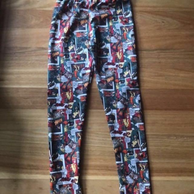 superhero comic leggings (price negotiable)